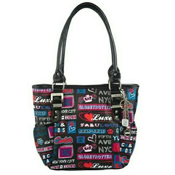 Kathy Van Zeeland Handbags - Kathy Van Zeeland New York Graffiti Tote Bag  Purse dd154b6b14e91